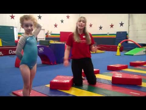 teaching cartwheels/handstands with blocks and other warm