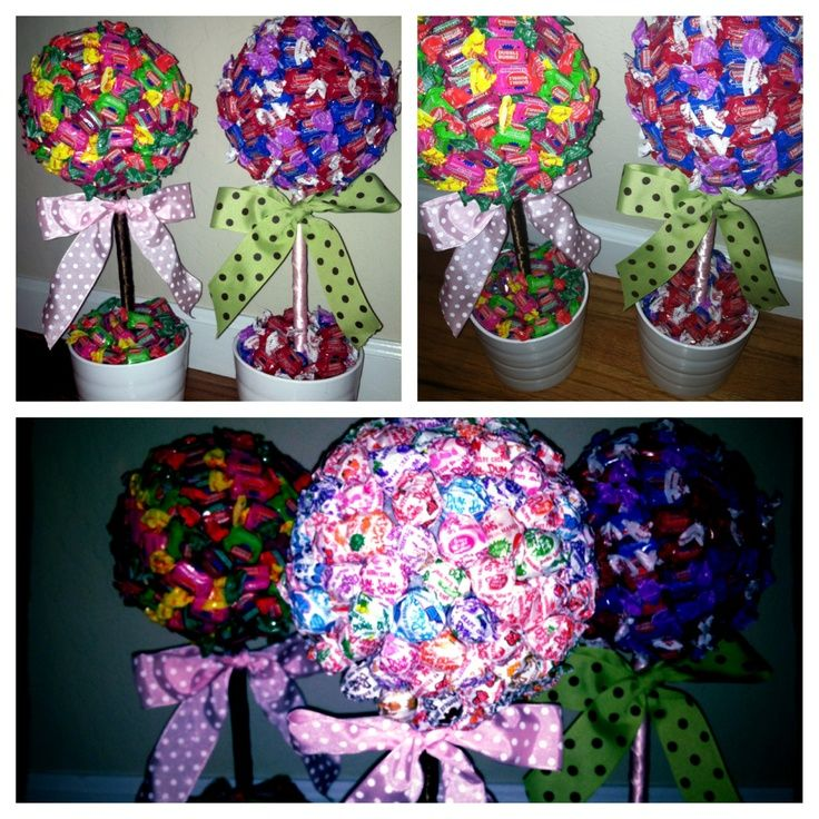 Candy Tree Centerpieces | DIY Candy Trees: Fun Centerpieces For A Ready To  Pop Baby