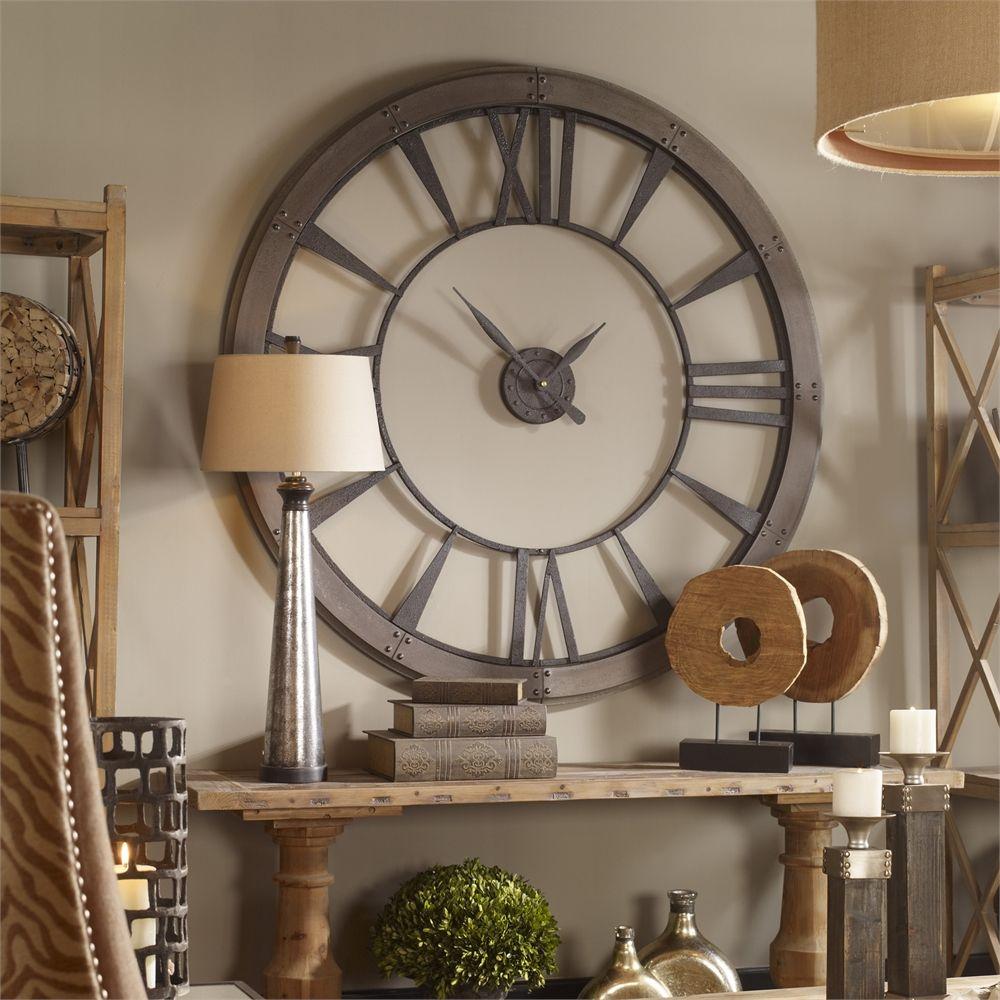 Uttermost Ronan Wall Clock Large Eileen 2 Pinterest Wall