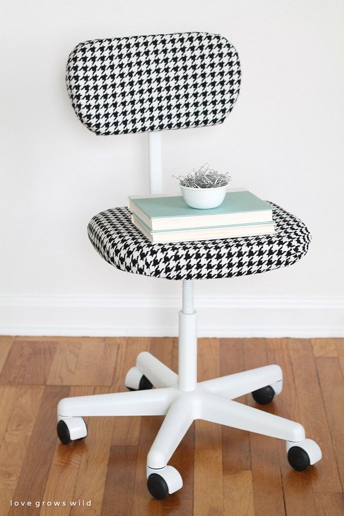 A Cheap Thrift Store Find Turned Into A Sleek And Stylish New Office Chair!  See