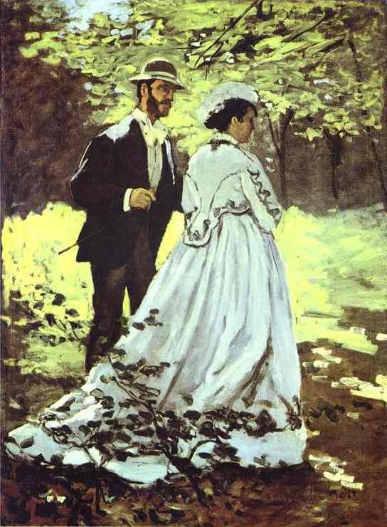 Image result for The Walk, Bazille and Camille (1865)
