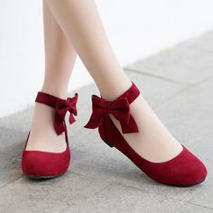 Odetina 2018 New Fashion Women Mary Janes Flats Bowknot Ankle Button Footware La... 2