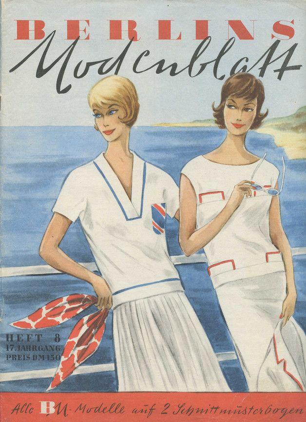 Heft 8 aus dem Jahr 1961 Vintage Schnittmuster - BERLINS Modenblatt ...