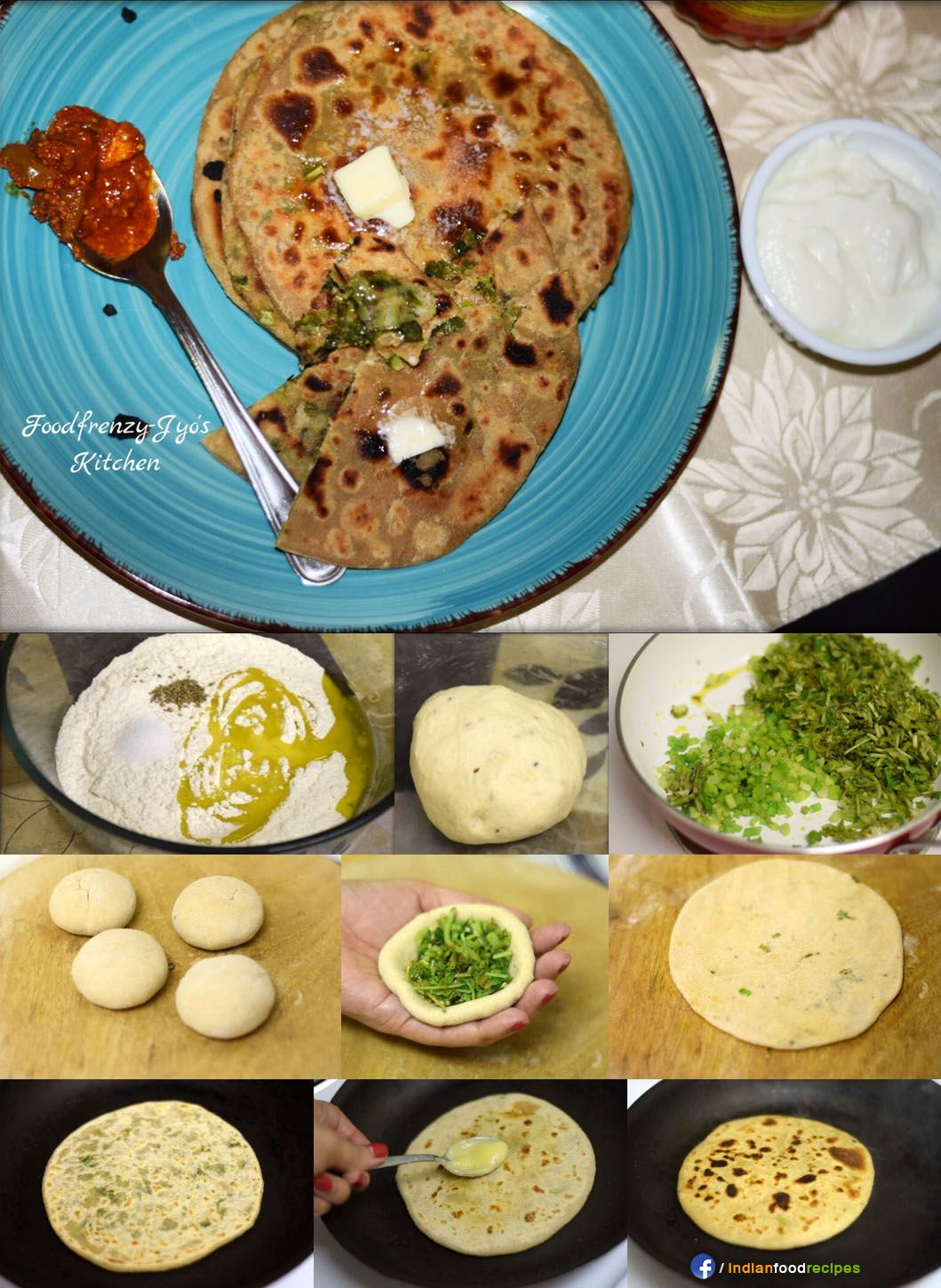 Spring onion and methi paratha recipe step by step indian food spring onion and methi paratha recipe step by step forumfinder Images