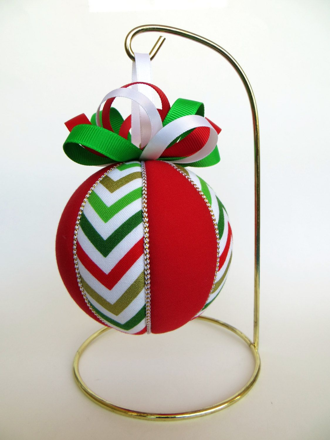 Christmas Ornament Chevron Pattern By Ornament Designs Quilted Christmas Ornaments Handmade Christmas Ornaments Diy Christmas Ornaments