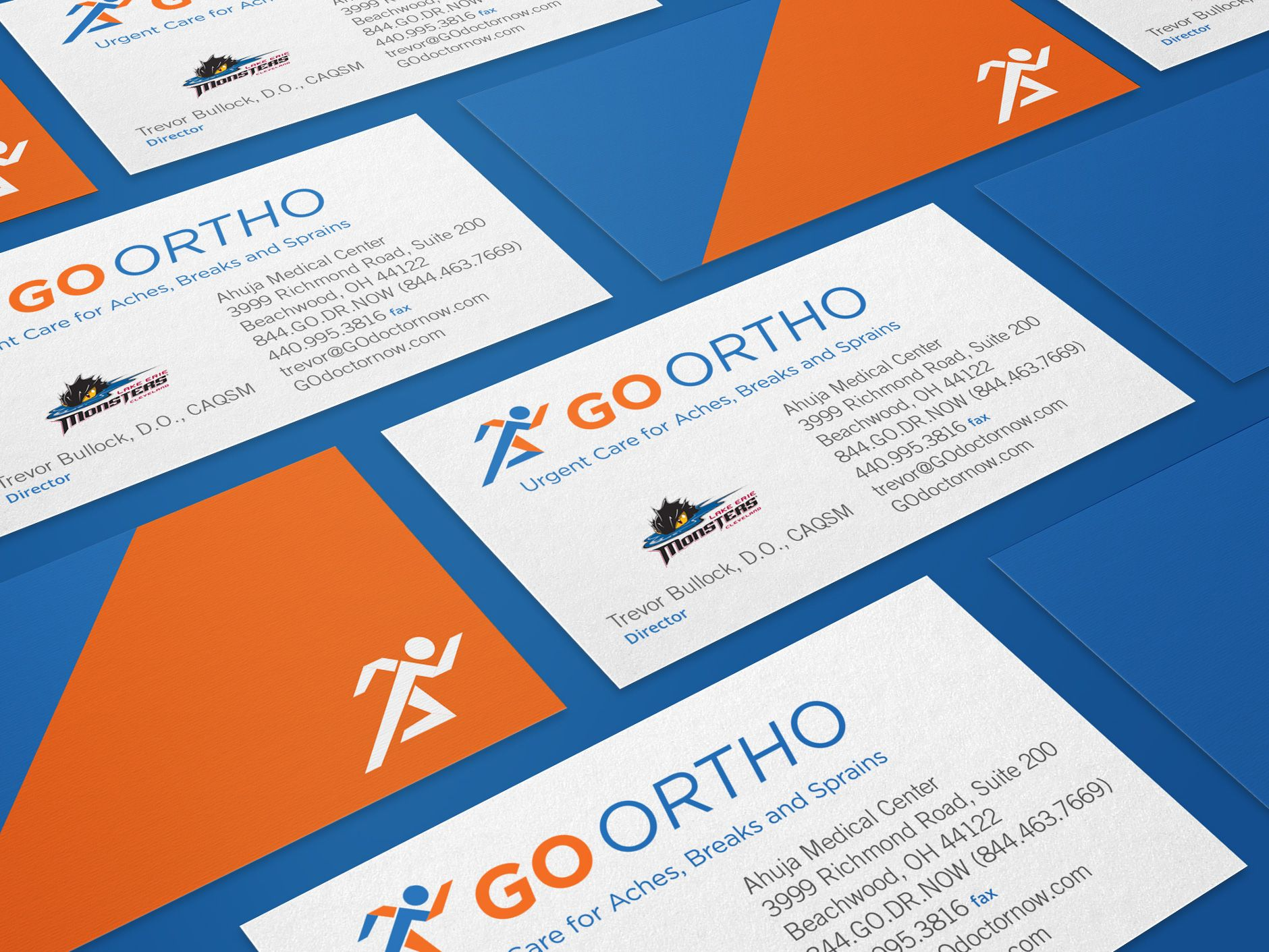 Go ortho cleveland orthopedic specialists business card design go ortho cleveland orthopedic specialists business card design designroom creative reheart Image collections