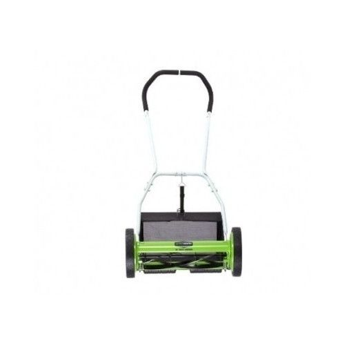 "Lawn Mower Hand Push Reel Manual Walk 5-Blade 16"" Deck GreenWorks w/Catcher New #Greenworks"
