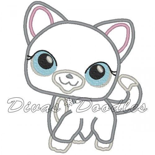 Divas Doodles Welcome To Divas Doodles Cat Applique Littlest Pet Shop Doodles