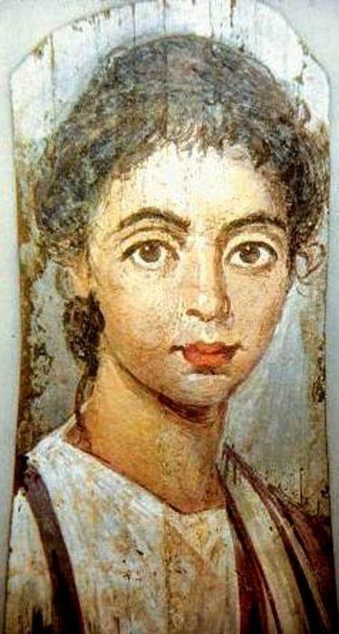 Fayum mummy portrait AMOD