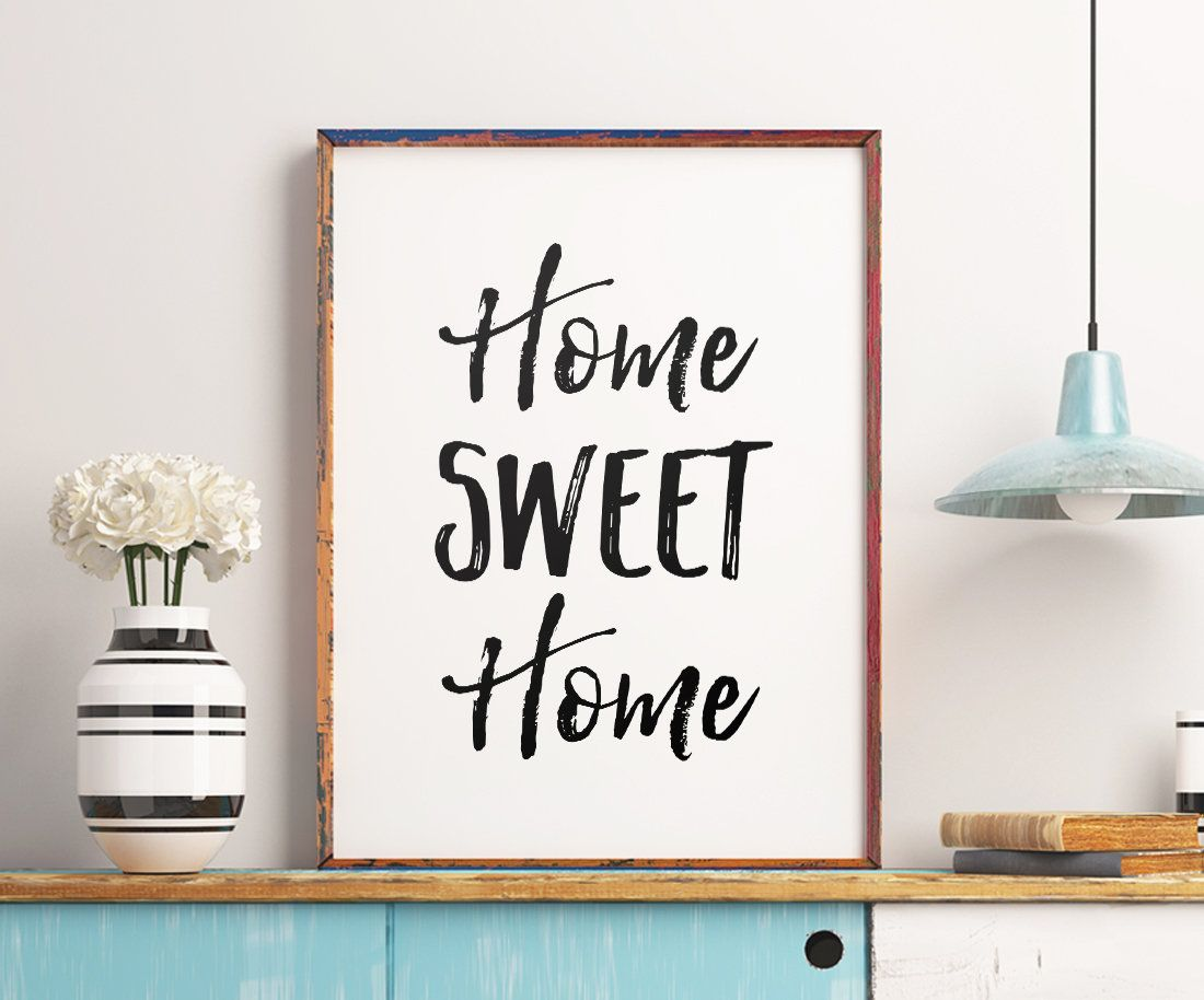 Home sweet home printable art home decor entrance decor