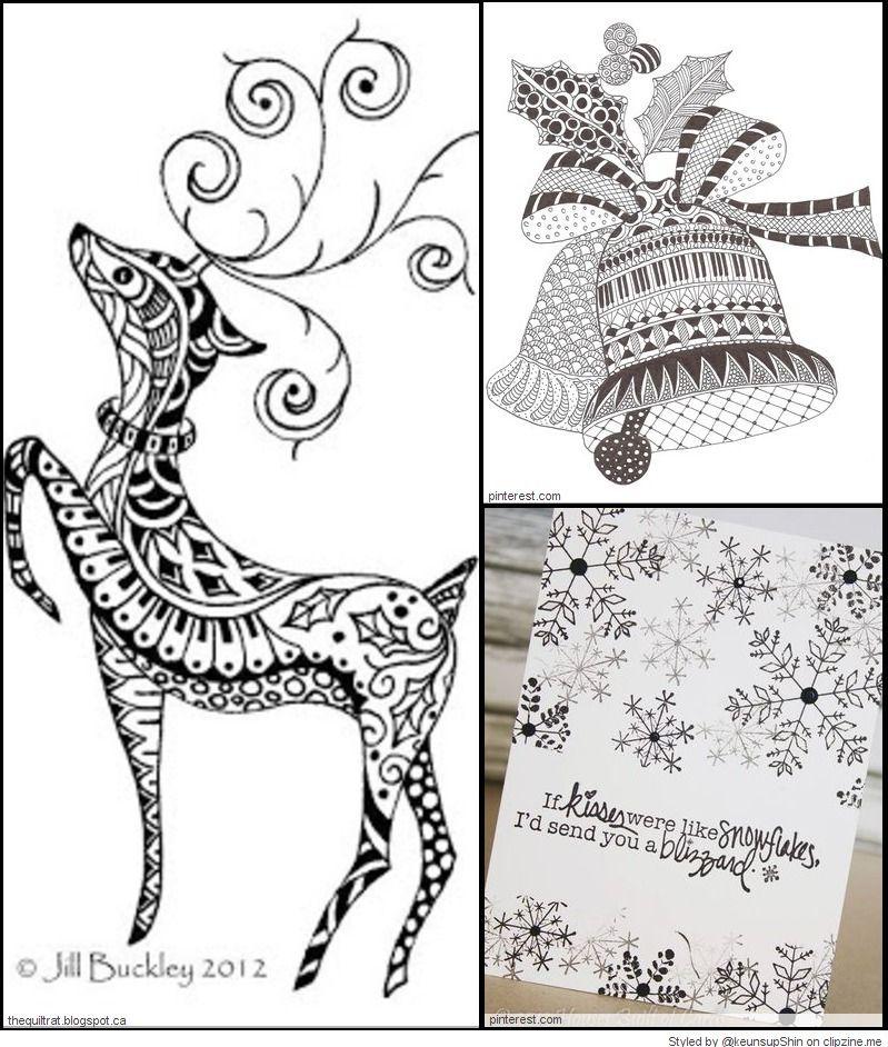 Christmas Zentangle Patterns | Tangles & Doodles & Art Ideas | Pinterest