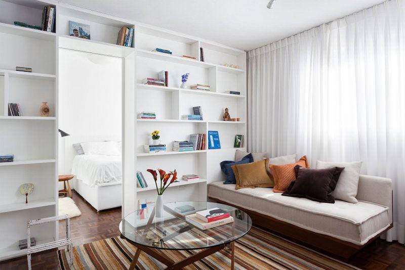Água Verde, um elegante apartamento pequeno em Curitiba - departamento de soltero moderno pequeo
