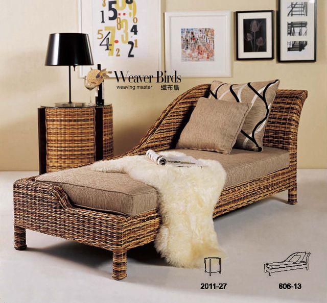 Weaver muy natural muebles de rattan mimbre sof reclinable dormitorio sala de estar ocio - Sofa dormitorio ...