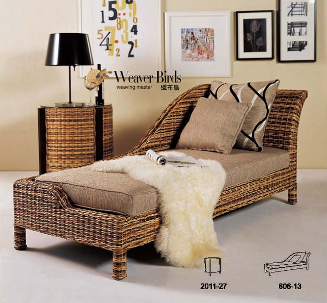 Weaver - muy natural muebles de rattan mimbre sofá reclinable ...