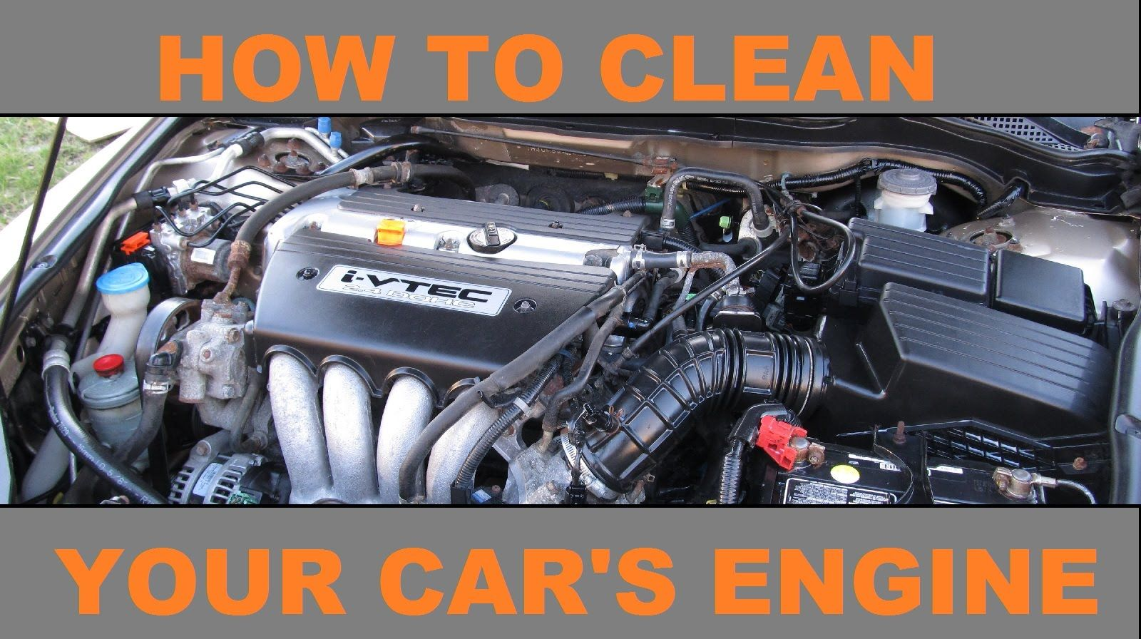 How To Clean A Vehicle Car Engine Cleaning Engineering