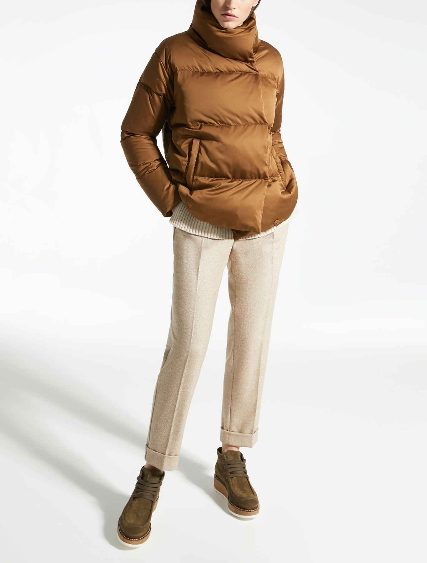 Water Repellent Satin Down Jacket Caramel Creta Max Mara Max Mara Autumn Winter Fashion Winter Classics [ 1800 x 1366 Pixel ]