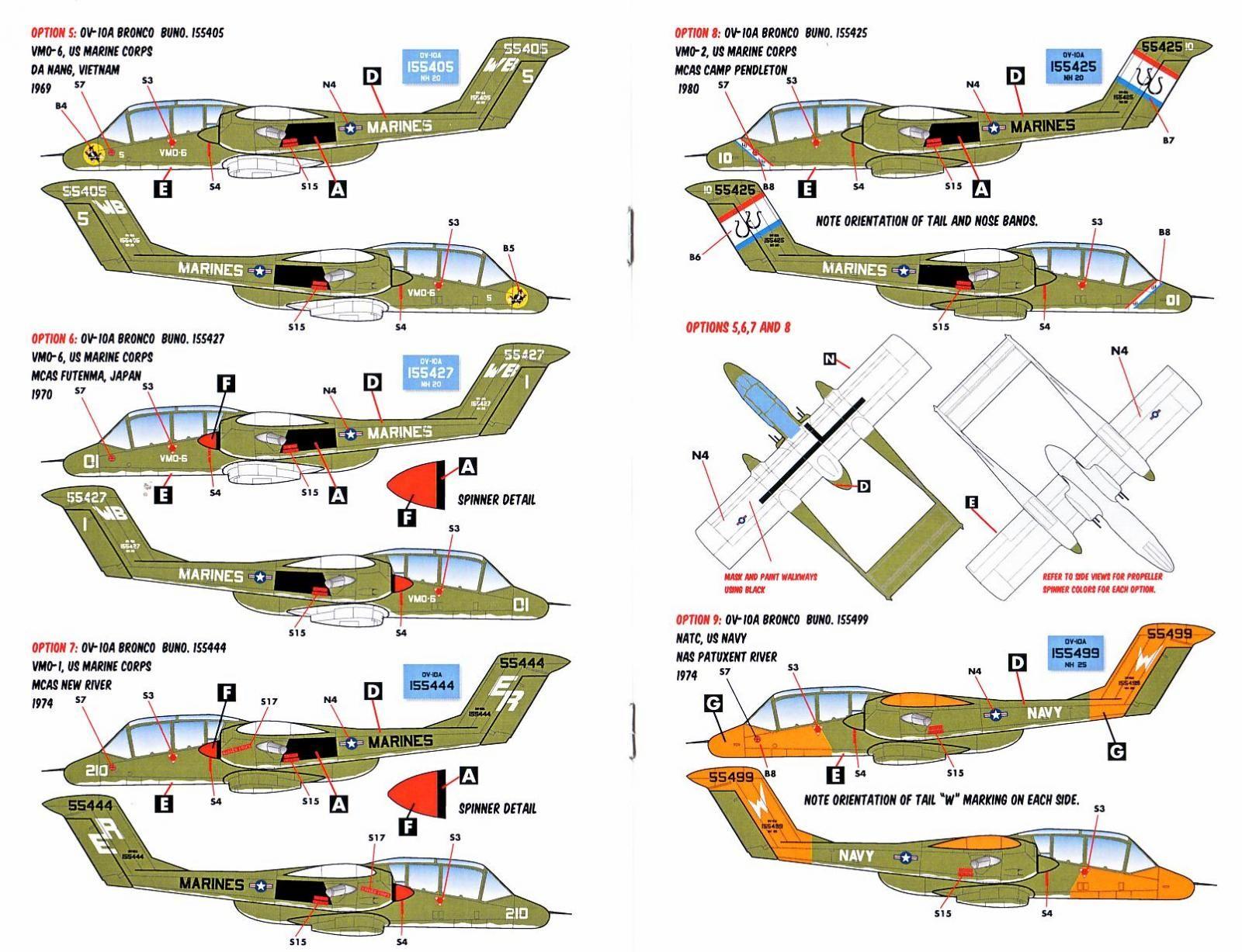 Caracal Models Schemes: OV-10A Bronco BuNo. 155405, VMO-6 ...