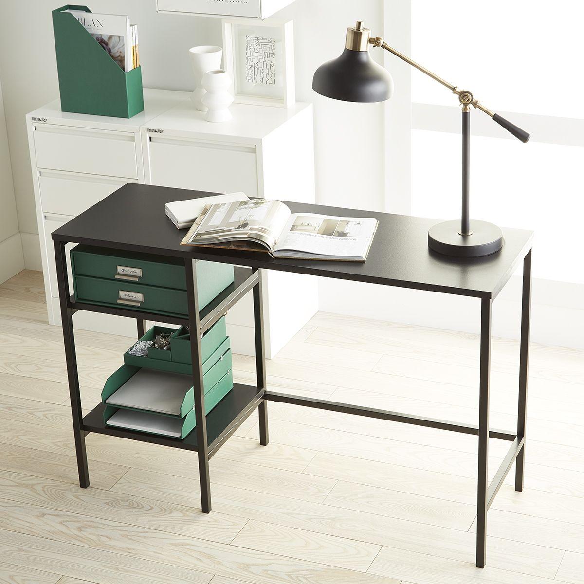 Niche Converted To A Mini Working Desk Diy Shelves Under 60