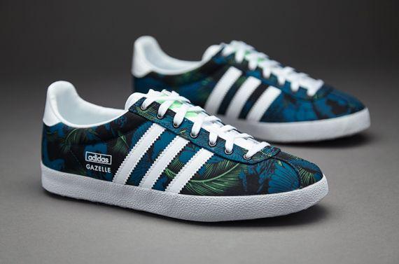 adidas Originals Womens Gazelle OG - Womens Shoes - Core Black/White/Semi  Flash Green