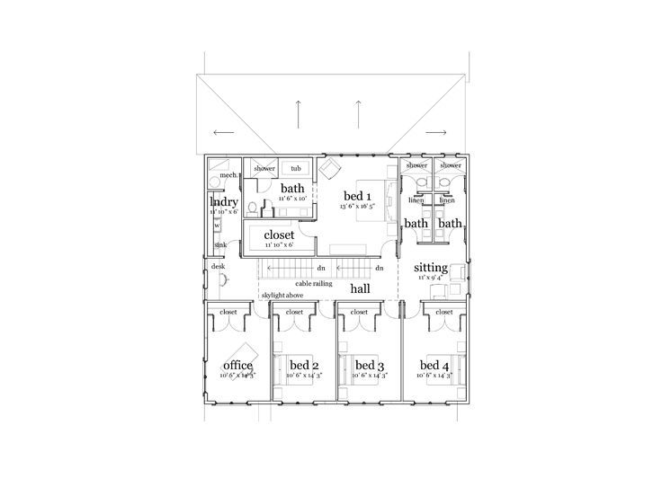 2nd floor plan modern 3000 sq ft house apartment above for Apartment floor plans 3000 sq ft