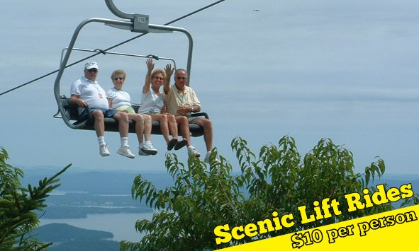 Scenic Chair Lift Rides At Gunstock Mtn Nh New