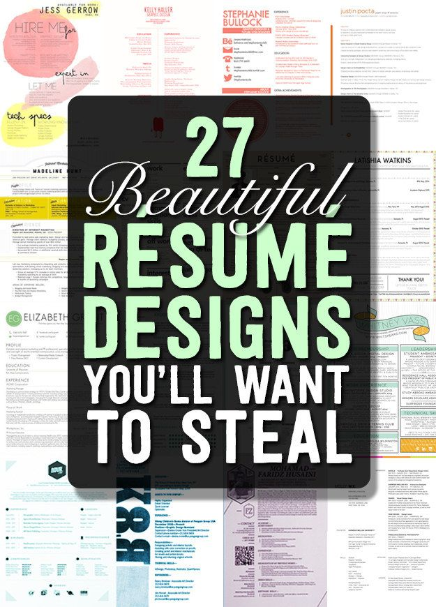 this wonderful article about beautiful rsum designs youll want to steal will help you update your resume i recently made mine more colorful and i