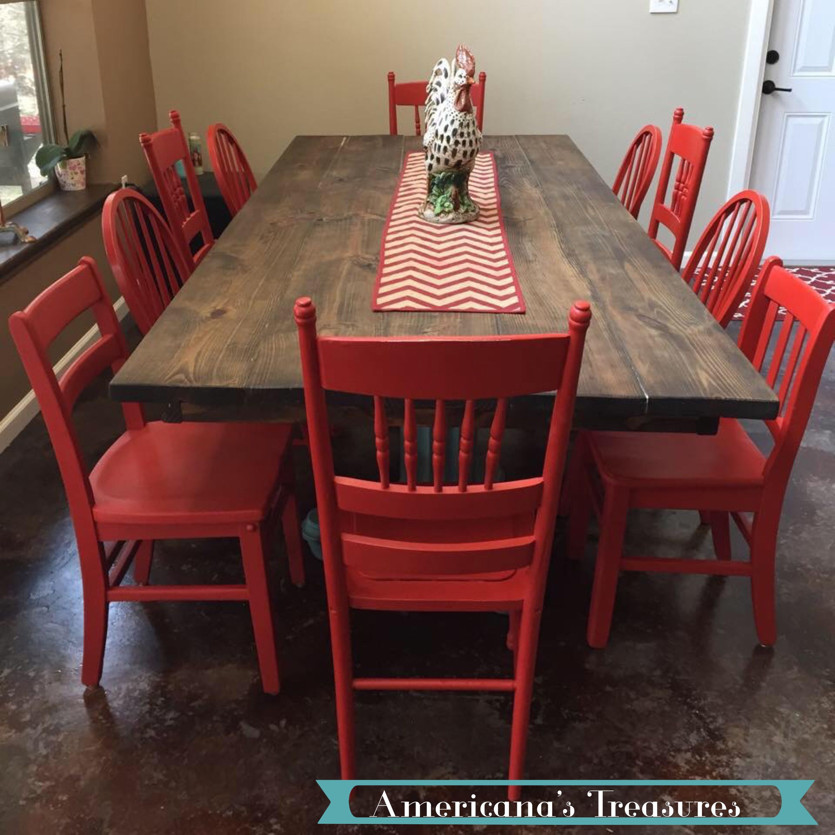 Red Mix N Match Chairs For The Perfect Rustic Or Eclectic Look