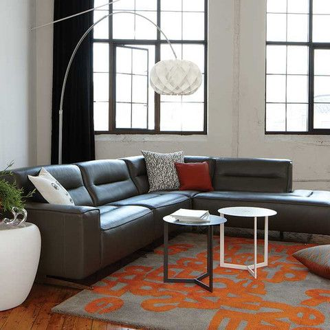 kasala - modern affordable 4 piece leather sectional - modern
