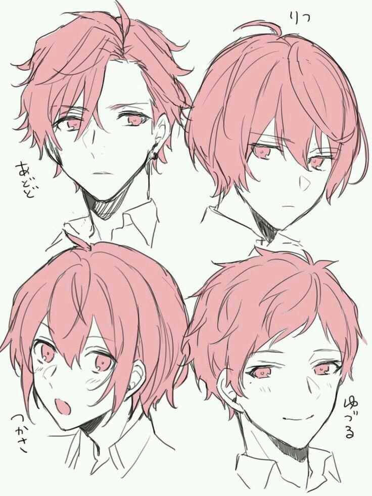 hair short boy drawing