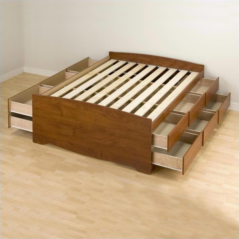 Plattform Lagerung Bett Voll Schlafzimmerde Com Camas Muebles Camas De Plataforma