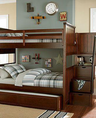 Best Huntsworth Kids Bedroom Furniture Twin Over Twin Cherry 400 x 300