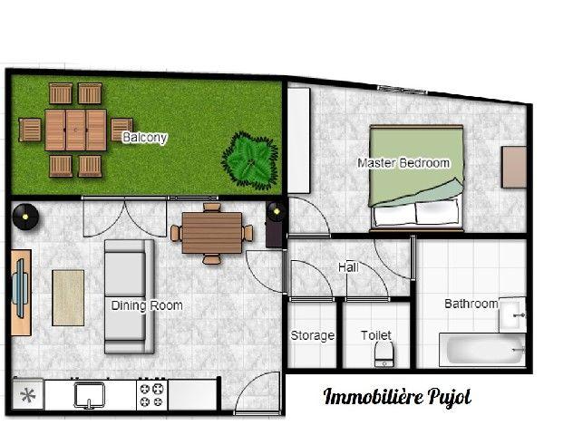 Favori Aménagement d'un appartement T2 neuf de 45m2 dans la résidence  KU12