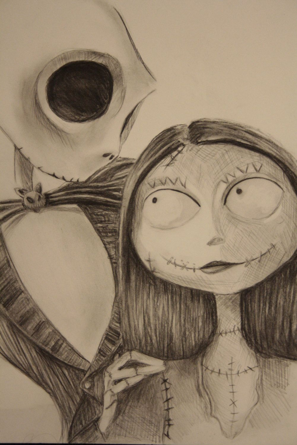 Jack And Sally Drawing By Valashardarts On Etsy Drawing