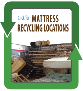 Yes You Can Recycle Your Mattress Or Kinda Mattress Recycling - Map of locations available to recycle in the us