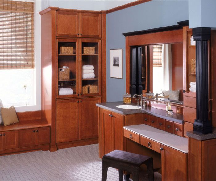 Maple Bathroom Cabinets - Kemper Cabinetry (With images ... on Bathroom Ideas With Maple Cabinets  id=25960
