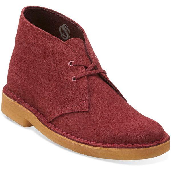 Clarks Originals Womens Boots Suede Deserts Cherry