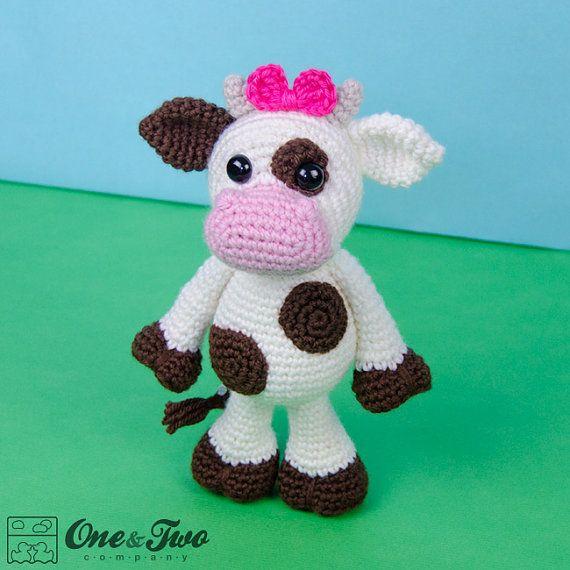 Doris la vaca Amigurumi - crochet Amigurumi patrón ganchillo PDF ...