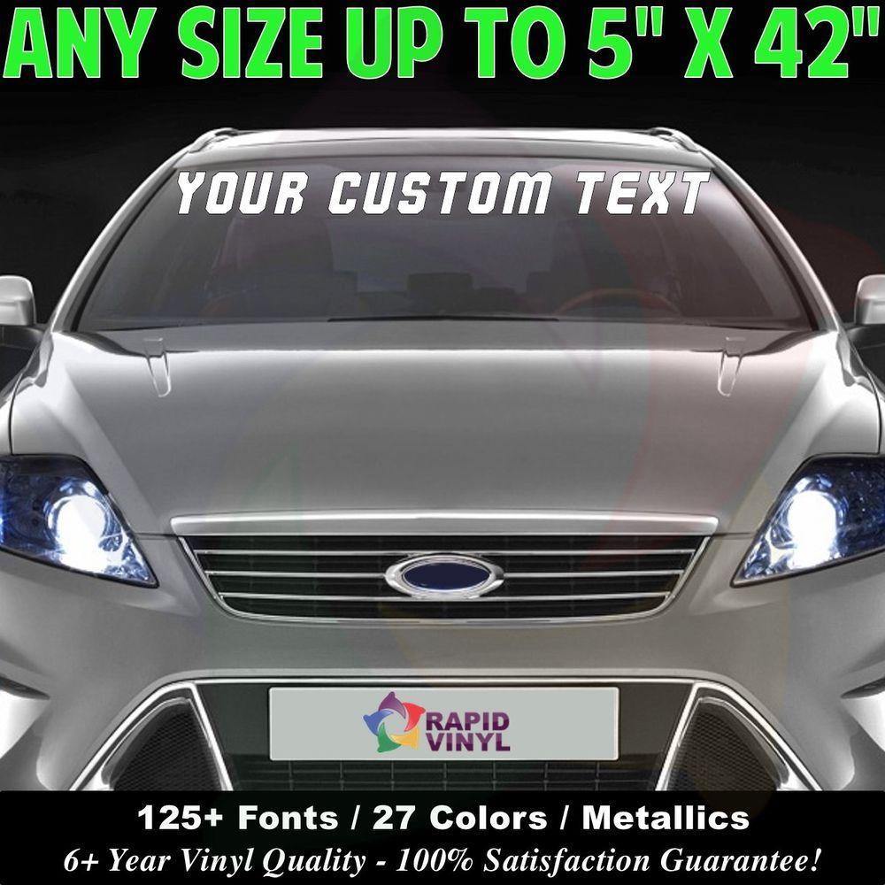 Custom Windshield Text Lettering X Vinyl Decal Sticker - Custom vinyl decal stickers for business