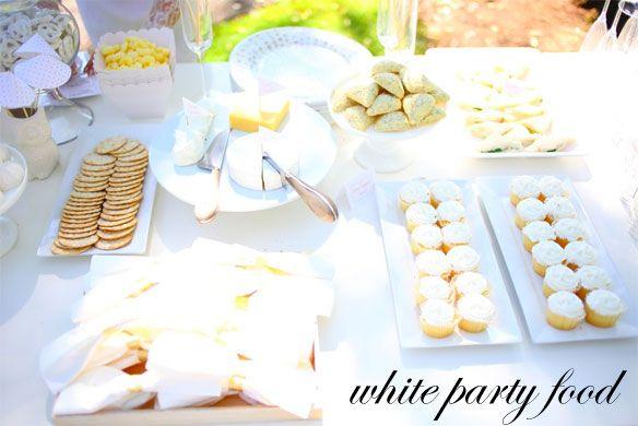 White Party Food Ideas White Party Foods White Party Food