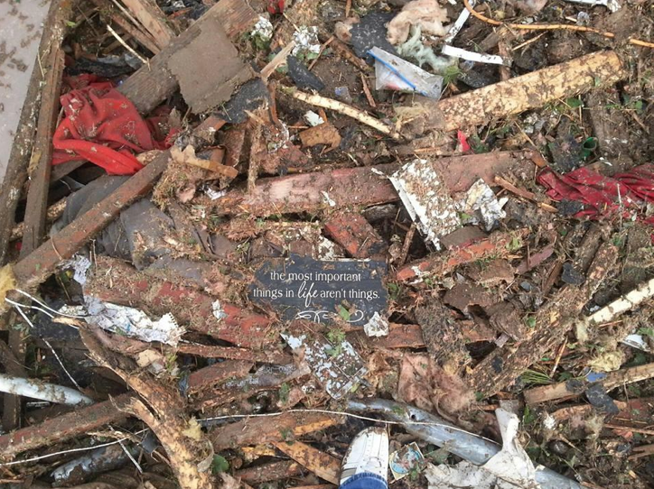 Twitter / EdPiotrowski: Apparently found in the rubble of the Moore OK tornado. Says it all.
