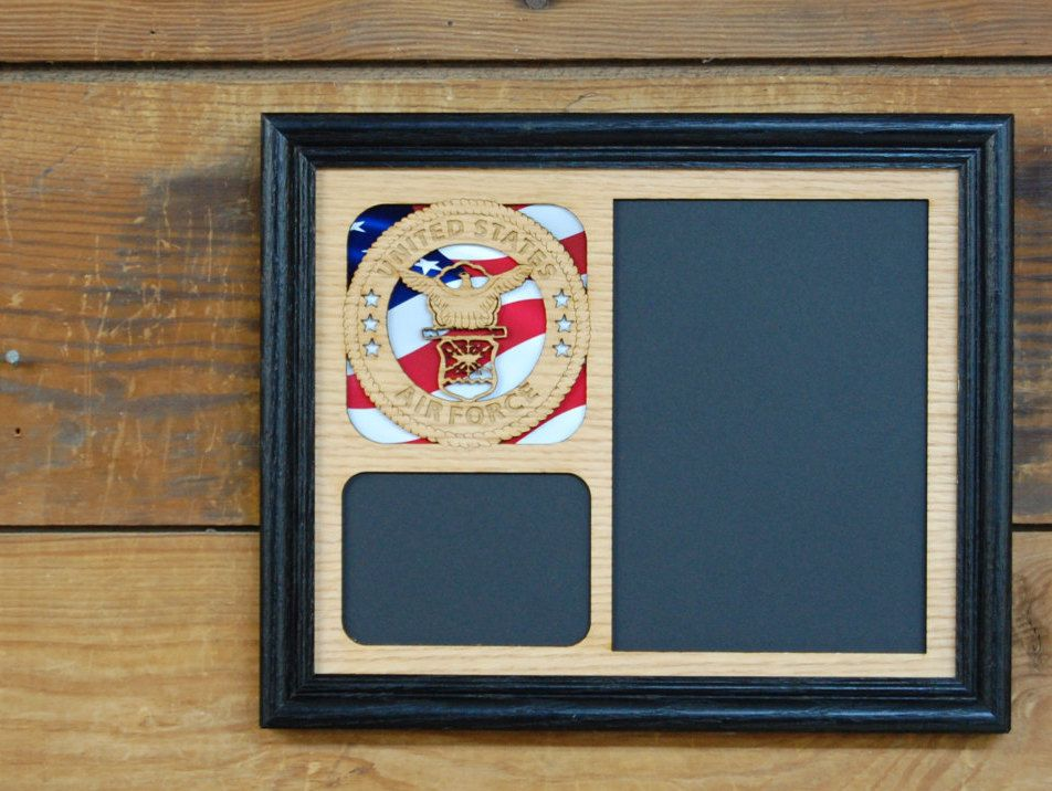 8x10 Us Air Force Picture Frame Military Picture Frame Laser