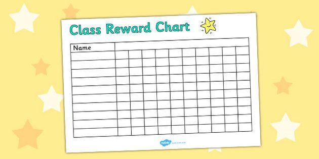 Editable class reward chart also after school program crafts  ideas rh pinterest