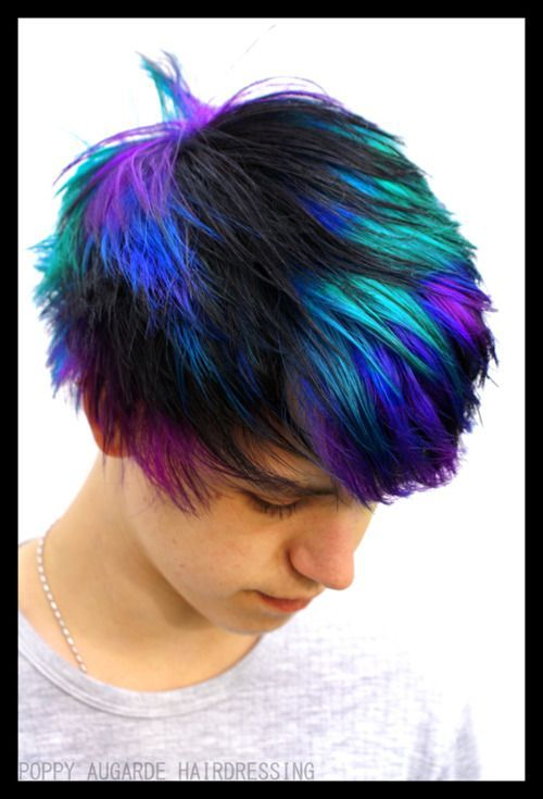 Boy Color Hair Tumblr Buscar Con Google Vivid Hair Color Boys