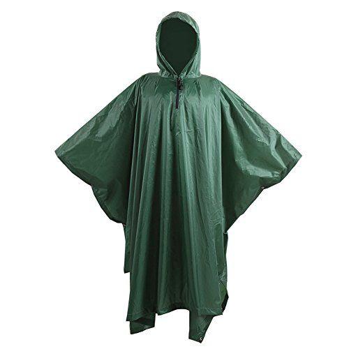 Onetigris Outdoor Multifunctional Poncho Ripstop Light Weight Raincoat Waterproof Hooded Raincoat Details Can Be Fo Outdoor Outfit Hooded Raincoat Raincoat