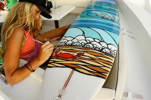 Painting my own surfboard    Summer vibes summer feelings Hamburg Lebensgefühl summer bucket list