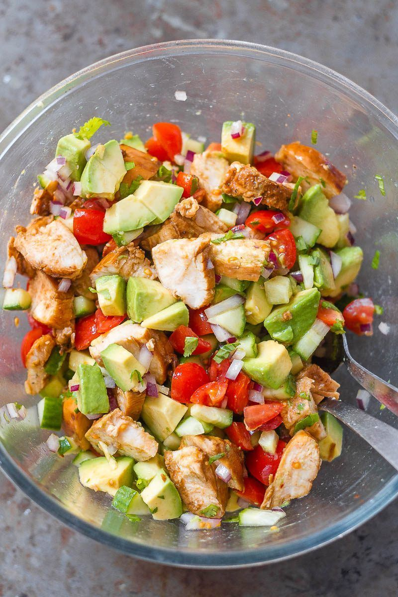Avocado Chicken Salad Healthy Avocado Chicken Salad - This salad is so light, flavorful, and easy to make! Perfect for your next barbecue or potluck!Healthy Avocado Chicken Salad - This salad is so light, flavorful, and easy to make! Perfect for your next barbecue or potluck!