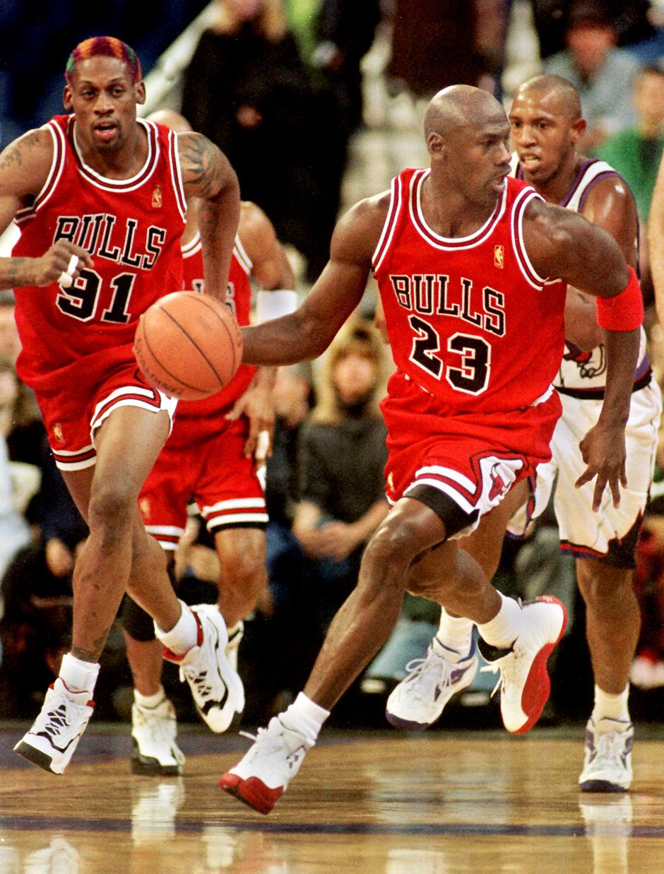 Michael Jordan Dennis Rodman Chicago Bulls Toronto Raptors Popeye Jones fd58d4134