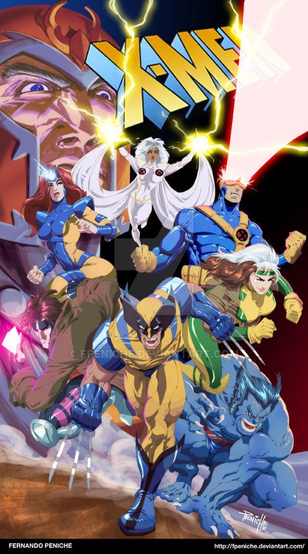 X Men 90s Cartoon By Fpeniche On Deviantart 90s Cartoon 90s Cartoons Marvel Comics Art