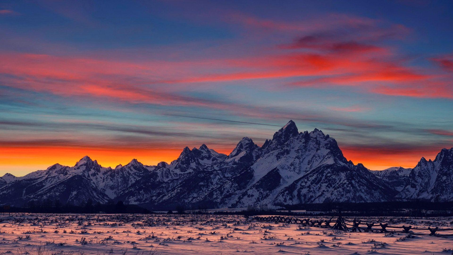 mountain sunset and sunrises majestic mountains