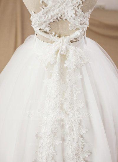 Ball Gown Floor-length Flower Girl Dress - Satin/Tulle Sleeveless Square Neckline (Petticoat NOT included) (010094042)